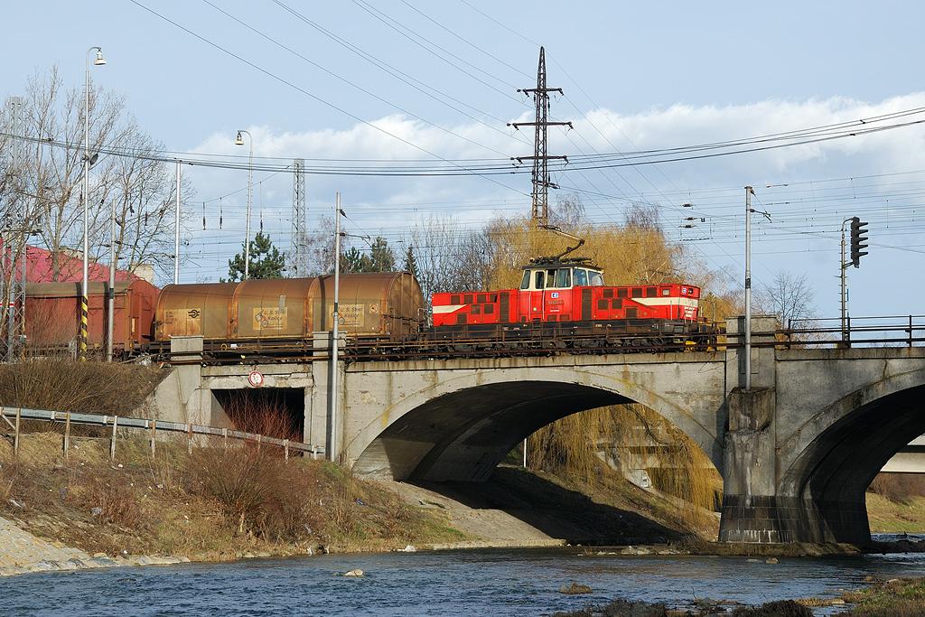 Lokomotiva 110 022-1, Valašské Meziříčí, 23.2.2008 0:00 - Trainweb