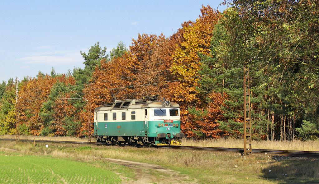 Lokomotiva 130 001-1, Lv 72909  (Nymburk – Kutná Hora), Velký Osek – Veltruby, 20.10.2008 13:49 - Trainweb