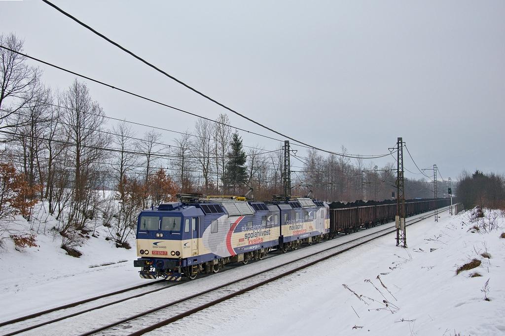 Lokomotiva 131 074-7 + 131 073-9, Pn 45761 (PKP – Petrovice u Karviné - Karviná – Čadca – Žilina – Košice – Haniska pri Košiciach), Bocanovice, 24.1.2019 12:25 - Trainweb
