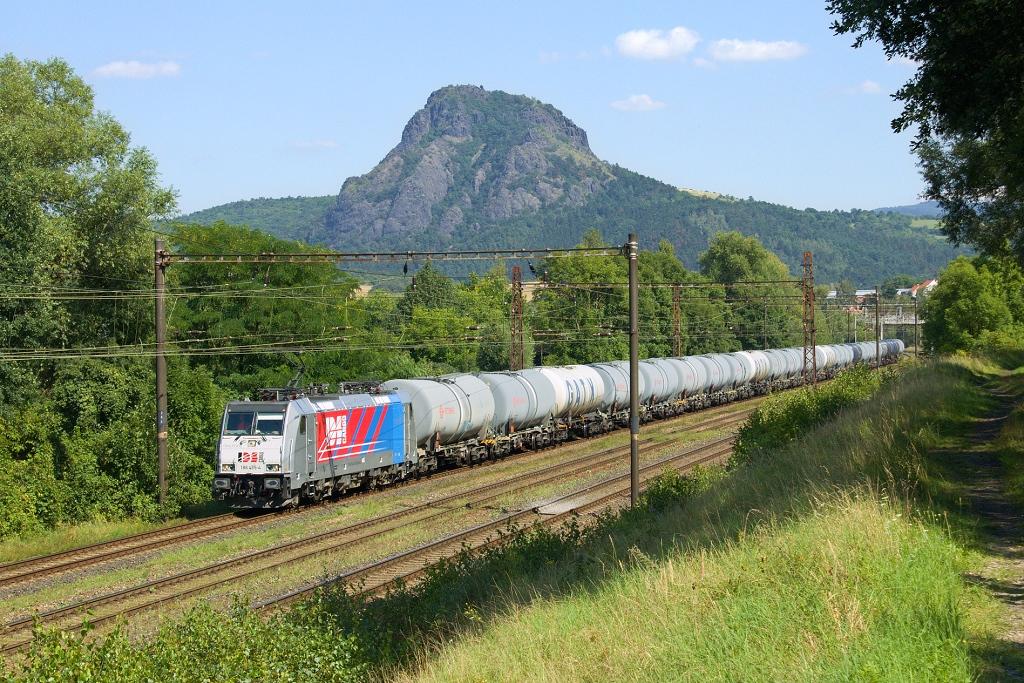 Lokomotiva 186 435-4, Pn 260780  (Hamburg – Dresden – Děčín – Ústí nad Labem – Most – Chomutov – Hájek), Želenice nad Bílinou – odb. České Zlatníky, 18.8.2016 15:08 - Trainweb