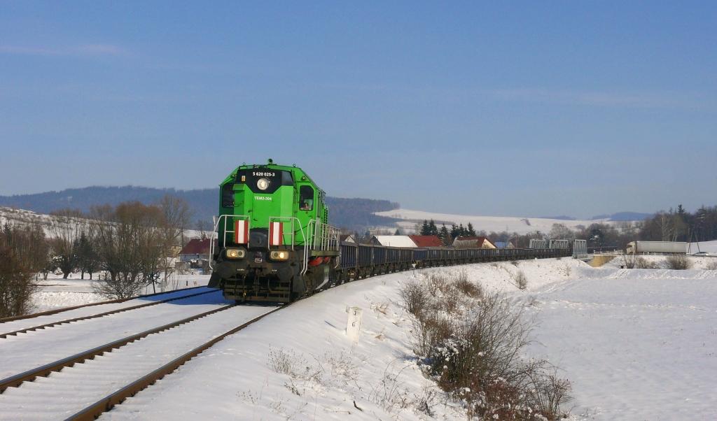 Lokomotiva TEM 2-304, TMS 764026 (Konin – Kamienna Góra), Sędzisław – Kamienna Góra, 6.2.2019 13:55 - Trainweb
