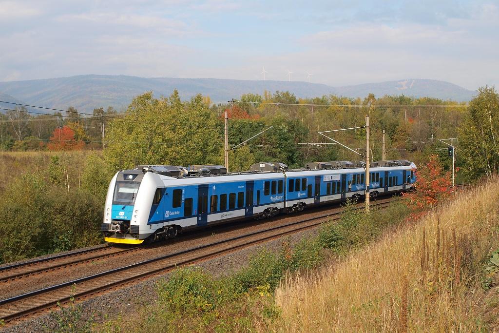 Jednotka 441 001-5, Os 6812  (Děčín  – Ústí nad Labem – Most), Oldřichov u Duchcova – Duchcov, 3.10.2012 11:30 - Trainweb