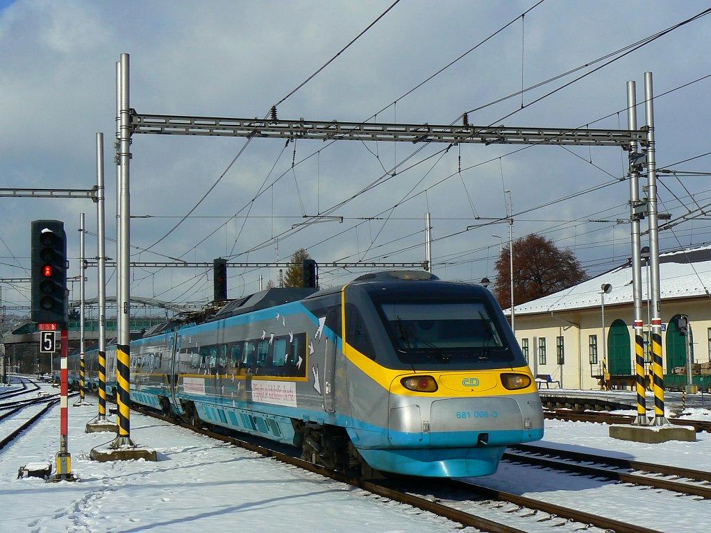 Jednotka 681 006-3, SC503, Zábřeh na Moravě, 13.11.2007 11:13 - Trainweb