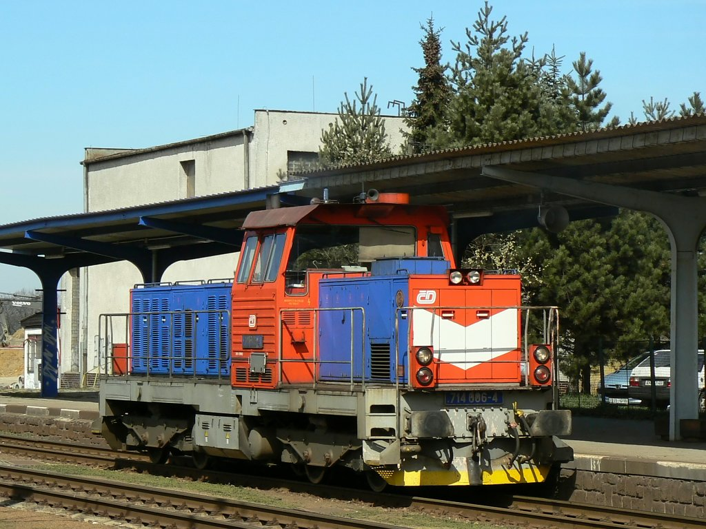 Lokomotiva 714 006-4, (posun), Žďár nad Sázavou, 5.4.2007 11:29 - Trainweb