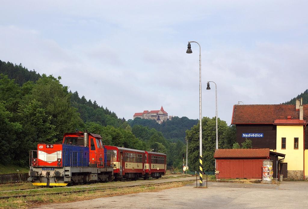 Lokomotiva 714 006-4, Os 14907  (Nedvědice – Tišnov), Nedvědice, 5.7.2008 7:17 - Trainweb