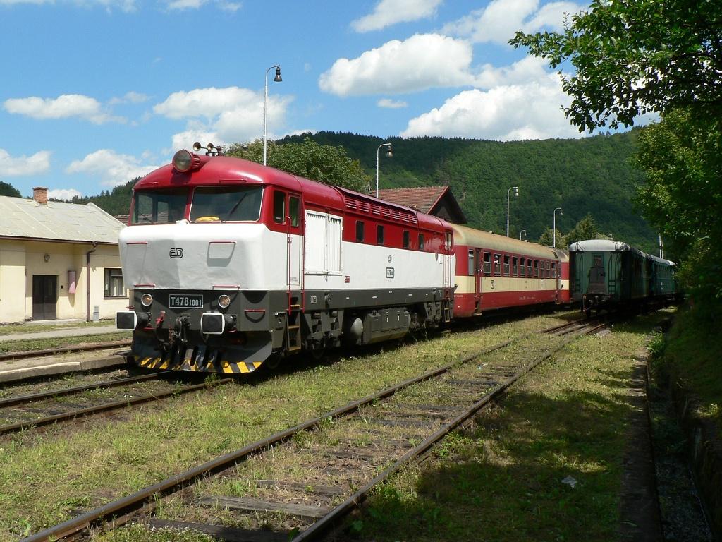 Lokomotiva 751 001-9, (na Sp 1674  [Nedvědice – Žďár nad Sázavou – Havlíčkův Brod]), Nedvědice, 8.7.2007 13:12 - Trainweb