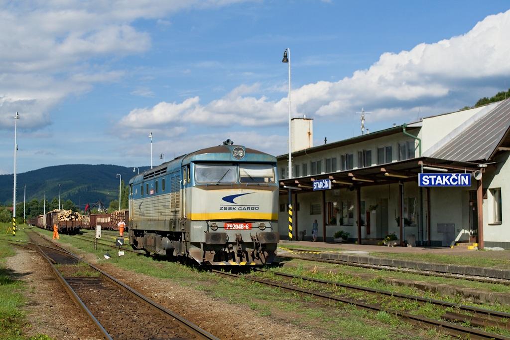 Lokomotiva 752 048-9, Mn, Stakčín, 4.8.2016 16:14 - Trainweb