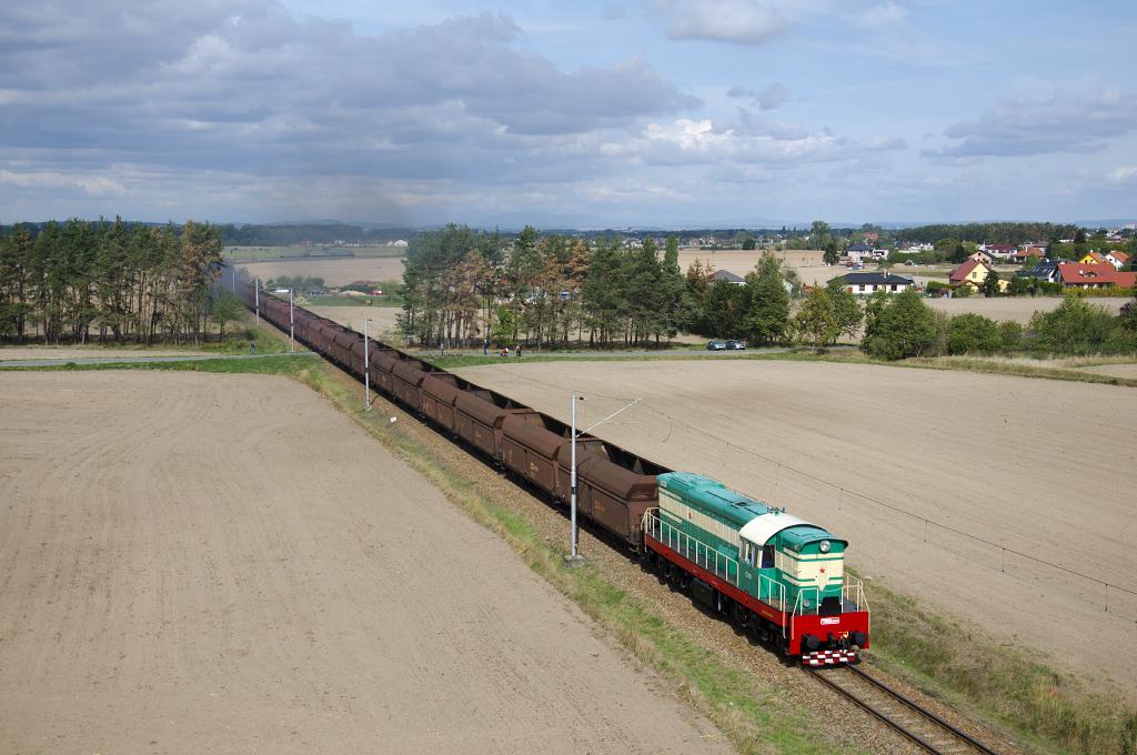 Lokomotiva 770 001-6, Pn, Vlečka elektrárny Opatovice, 26.9.2015 12:52 - Trainweb