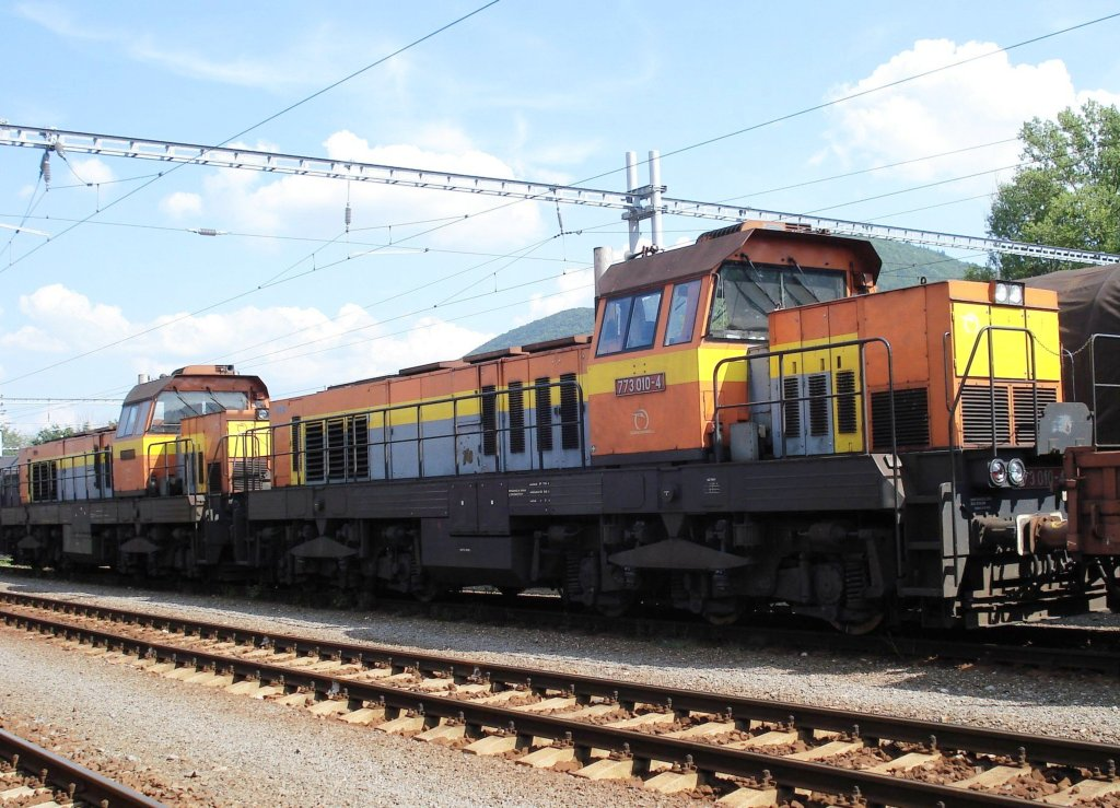 Lokomotiva 773 010-4, Pn do Vrútok, Banská Bystrica, 14.8.2007 14:41 - Trainweb