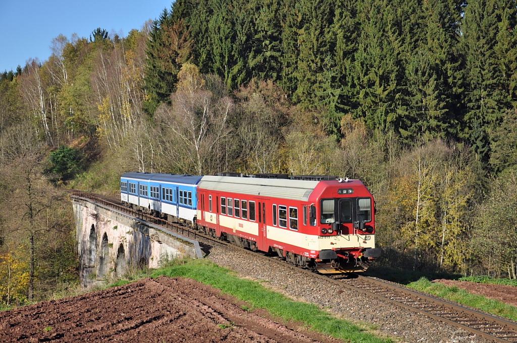 Motorový vůz 843 015-9, R 1269 (Semily – Stará Paka – Jaroměř – hradec  Králové – Pardubice [zkrácená výluková ...