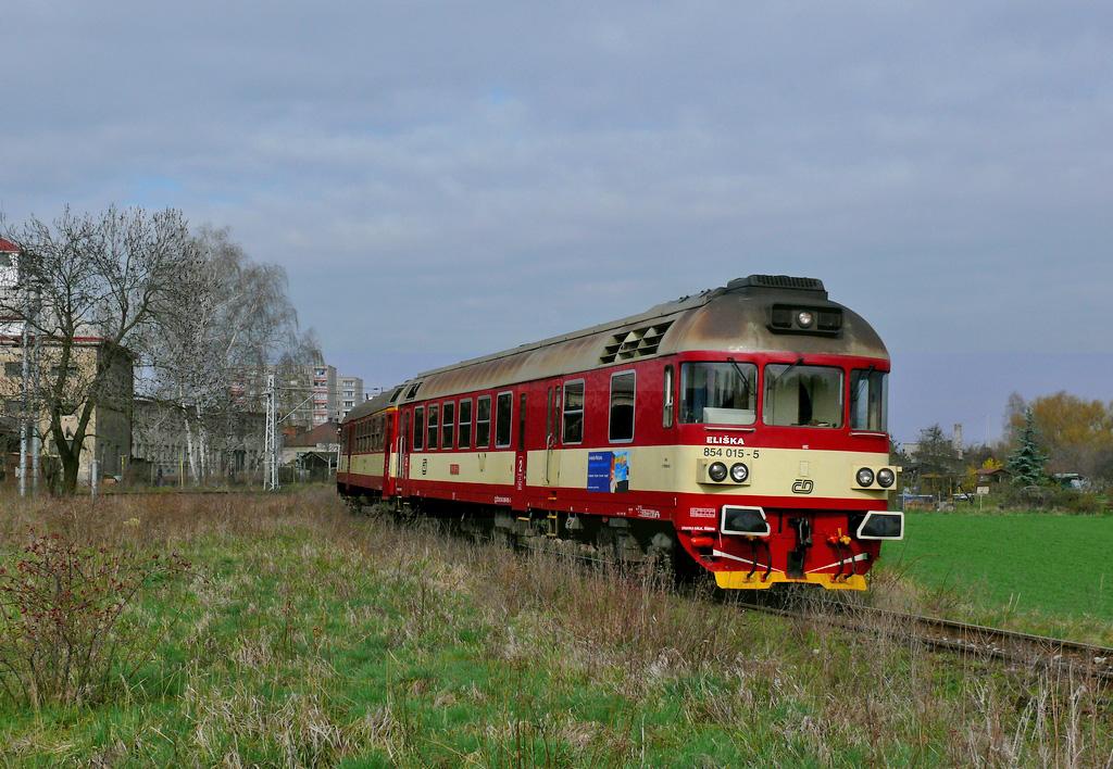 Motorový vůz 854 015-5, Sp 1865, Chlumec nad Cidlinou, 8.4.2008 9:40 - Trainweb
