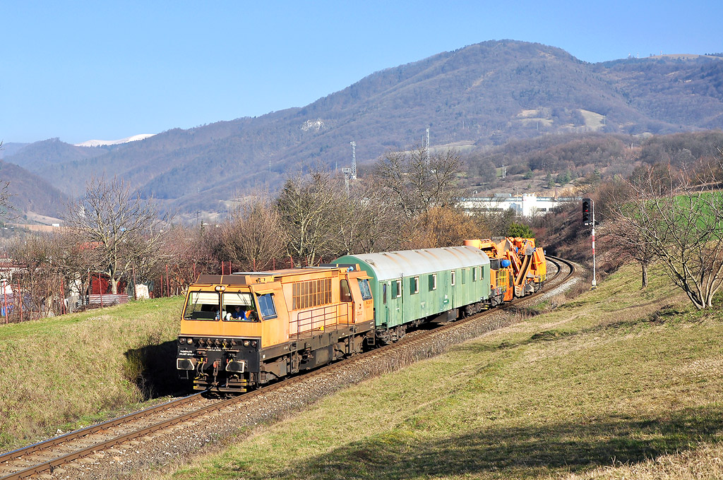 Vozidlo PA 300, služební vlak, Kostiviarska, 9.3.2014 9:17 - Trainweb