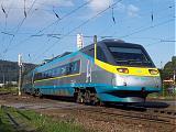 """Jednotka 681 004-8, SC 505 """"SC Pendolino""""  (Praha – Pardubice – Olomouc – Ostrava), Ústí nad Orlicí, 9.9.2006 9:16 - Trainweb"""