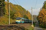 "Jednotka 682 003-9, IC 570 ""Brněnský drak""  (Břeclav – Brno – Pardubice – Praha), Brandýs nad Orlicí – Choceň, 22.10.2006 15:15 - Trainweb"