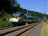 "Jednotka 682 005-4, SC 508 ""SC Pendolino""  (Ostrava – Olomouc – Pardubice – Praha-Holešovice), Tatenice, 15.7.2007 14:59 - Trainweb"
