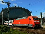 Lokomotiva 101 116-2, EC 176  (Praha – Děčín – Berlin – Hamburg), Dresden-Neustadt, 4.8.2007 11:18 - Trainweb