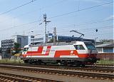 """Lokomotiva 1014 011-9, Čaká na preprah IC 402 """"Gerlach"""" do Viedne, Bratislava-Petržalka, 12.6.2007 11:23 - Trainweb"""