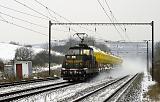 Lokomotiva 111 015-4, Mn 86619  (Počerady – Obrnice – Bílina), Želenice nad Bílinou, 24.1.2013 11:37 - Trainweb