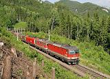 Lokomotiva 1144 262 + 1142 634 + 1116 098, Breitenstein  - Wolfsbergkogel, 12.6.2019 9:16 - Trainweb