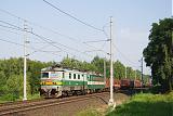 Lokomotiva 122 019-3 + 163 001-1, Rn 45314  (Česká Třebová – Kolín – Nymburk – Mělník – Děčín východ – Dresden – Engelsdorf), Řečany nad Labem – Chvaletice, 23.8.2011 17:24 - Trainweb