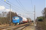 Lokomotiva 123 001-0, NEx 45310  (Česká Třebová – Kolín – Nymburk – Mělník – Děčín východ – Dresden – Engelsdorf), Starý Kolín – Kolín seř.n., 4.4.2009 15:34 - Trainweb