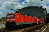 Lokomotiva 143 010-7, RE 17456, Dresden-Neustadt, 4.8.2007 12:27 - Trainweb