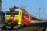 "Lokomotiva 151 001-5, EC 106 ""Praha""  (Warszawa – Katowice – Bohumín – Ostrava – Olomouc – Pardubice – Praha), Pardubice hl.n., 1.4.2007 14:47 - Trainweb"