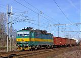 Lokomotiva 163 002-9, Pn 64303  (Nymburk — Česká Třebová), Libice nad Cidlinou, 6.3.2008 9:36 - Trainweb