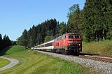 Lokomotiva 218 438-0, EC 195 (Zürich - München), Röthenbach - Oberstaufen (Wolfsried), 12.9.2018 16:01 - Trainweb