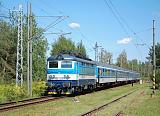 """Lokomotiva 242 212-9, R 666 """"Vajgar"""" (Brno-Třebíč-Jihlava-Č.Budějovice-Plzeň), Veselí nad Lužnicí, 13.8.2018 13:14 - Trainweb"""