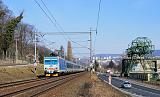 """Lokomotiva 371 002-7, EC 171 """"Hungaria""""  (Berlin – Dresden – Děčín – Praha – Pardubice – Brno – Bratislava – Štúrovo – Budapest), Ústí nad Labem jih, 17.3.2013 10:17 - Trainweb"""
