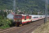 Lokomotiva 371 002-7, EC 174  (Budapest – Štúrovo – Bratislava – Brno – Pardubice – Praha – Dresden – Berlin – Hamburg), Vaňov, 30.8.2007 14:04 - Trainweb