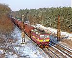 Lokomotiva 372 007-5, Pn 1.nsl.48337  (Bad Schandau – Děčín – Mělník – Nymburk – Kolín – Havlíčkův Brod – Brno – Kúty – Bratislava – Šurany), Veltruby, 20.12.2009 13:32 - Trainweb