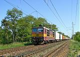 Lokomotiva 372 009-1, nákladní ze směru Kutná Hora, Hlízov - Kolín, 19.5.2007 15:24 - Trainweb