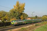 """Lokomotiva 471 501-7, IC 937 """"Soproni Közgáz""""  (Sopron – Győr – Tatabánya – Budapest Keleti pú.), Tata – Tóvároskert, 12.10.2017 10:00 - Trainweb"""