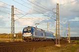 """Lokomotiva 5 370 008, EC 110 """"Praha""""  (Warszawa – Katowice – Bohumín – Ostrava – Olomouc – Pardubice – Praha), Záboří nad Labem – Starý Kolín, 30.10.2013 16:07 - Trainweb"""