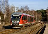 Lokomotiva 642 055-8, Os 5296  (Karlovy Vary – Nejdek – Potůčy – Zwickau – Johanngeorgenstadt – Schwarzenberg [Erzg] – Aue [Sachs] – Zwickau [Sachs], Stará Role, 3.4.2011 18:21 - Trainweb