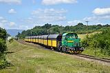 Lokomotiva 709 703-3, uhelný vlak do elektrárny Počerady, výhybna E2 Líšnice, 28.6.2015 13:25 - Trainweb