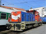 Lokomotiva 714 004-9, (posun), Brno hl.n., 7.3.2007 13:04 - Trainweb