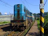 Lokomotiva 740 016-1, 2x lv od Žiliny (spolu s 181 114-0), Čadca mesto, 6.8.2007 9:28 - Trainweb