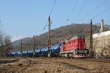 Lokomotiva 742 201-7, Pn 56500 IDSC  (Louny – Bílina – Světec – Ústí nad Labem [– Děčín-Prostřední Žleb – Dresden – Stendell], Úpořiny, 31.1.2019 10:00 - Trainweb