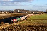 Lokomotiva 744 001-9 + 753 603-0, Pn 169060  (Hostivice – Kladno – Lužná u Rakovníka – Žatec – Březno u Chomutova), Unhošť – Kladno, 8.1.2014 15:08 - Trainweb