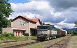 Lokomotiva 750 213-1, Mn 83474 (Týniště nad Orlicí – Náchod – Meziměstí – Broumov), Broumov, 25.6.2018 9:27 - Trainweb