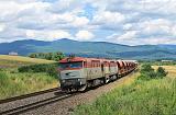 Lokomotiva 751 206-4 + 751 036-5, nákladní vlak, Jovice, 4.7.2016 14:01 - Trainweb