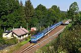 Lokomotiva 754 006-5, R 776 Berounka (Praha - Plzeň - Klatovy - Železná Ruda), Hamry-Hojsova Stráž, 16.8.2020 9:32 - Trainweb