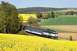 Lokomotiva 754 022-2, Os 7418  (Plzeň – Domažlice), Osvračín – Blížejov, 7.5.2020 16:22 - Trainweb