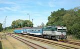 Lokomotiva 754 022-2, Os 8711 (Veselí nad Lužnicí-České Velenice), Třeboň, 12.8.2018 14:02 - Trainweb