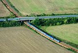 Lokomotiva 754 027-1, Os 7803  (Plzeň – Beroun), Stašov – Zdice, 27.8.2015 9:30 - Trainweb