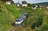 Lokomotiva 754 057-8, Rx 775 Železná Ruda - Klatovy - Plzeň - Praha, Železná Ruda, 9.9.2018 16:16 - Trainweb