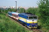 Lokomotiva 754 059-4, R 1193  (Most – Chomutov – Žatec – Podbořany – Plzeň), Plzeň-Bílá Hora, 4.9.2011 11:48 - Trainweb
